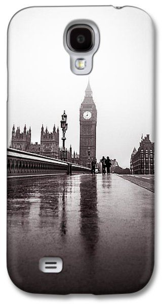 Carter House Galaxy S4 Cases - Misty Big Ben Galaxy S4 Case by Lenny Carter