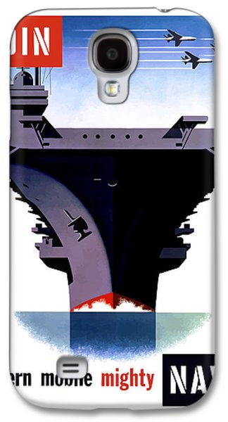 States Mixed Media Galaxy S4 Cases - Modern Mobile Mighty Navy Galaxy S4 Case by War Is Hell Store