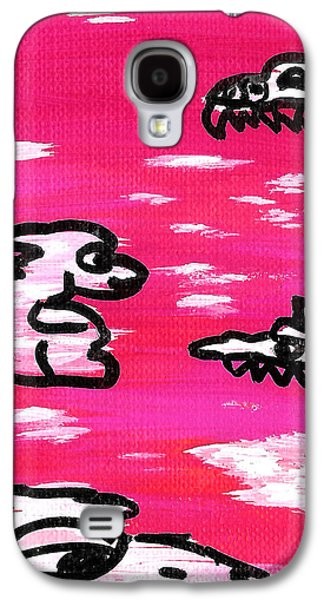 Creepy Drawings Galaxy S4 Cases - Monsters in the Clouds Galaxy S4 Case by Jera Sky