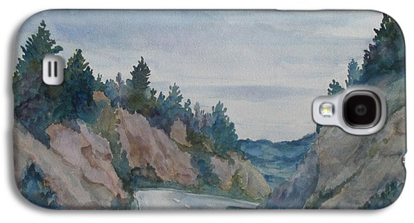 Road Paintings Galaxy S4 Cases - Montana Road Trip Galaxy S4 Case by Jenny Armitage