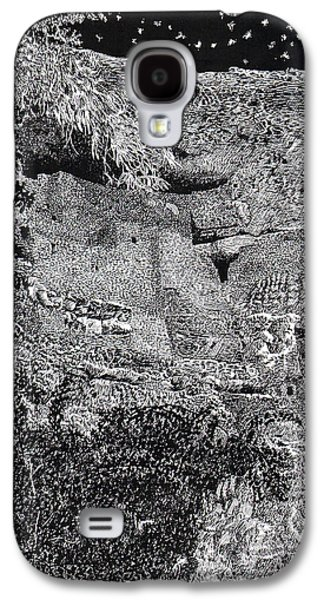 Pen And Ink Framed Prints Galaxy S4 Cases - Montezuma Castle  Galaxy S4 Case by Jack Pumphrey