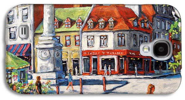 Quebec Streets Paintings Galaxy S4 Cases - Montreal Street Urban Scene by Prankearts Galaxy S4 Case by Richard T Pranke