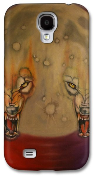 Moral Paintings Galaxy S4 Cases - Moon Galaxy S4 Case by Roger Williamson