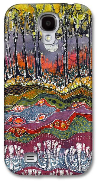 Mystical Tapestries - Textiles Galaxy S4 Cases - Moonlight Over Spring Galaxy S4 Case by Carol  Law Conklin