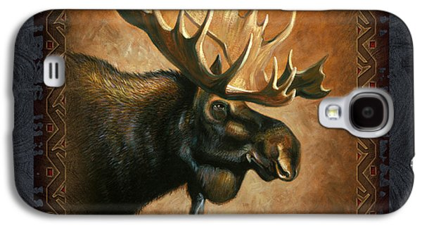 Wyoming Paintings Galaxy S4 Cases - Moose Lodge Galaxy S4 Case by JQ Licensing