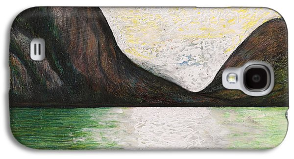 Canoe Drawings Galaxy S4 Cases - Morning At Tracy Arm Alaska Galaxy S4 Case by Al Goldfarb