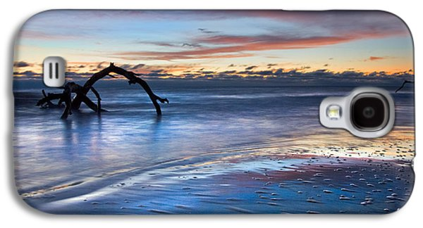 Tidal Photographs Galaxy S4 Cases - Morning Calm at Driftwood Beach Galaxy S4 Case by Debra and Dave Vanderlaan