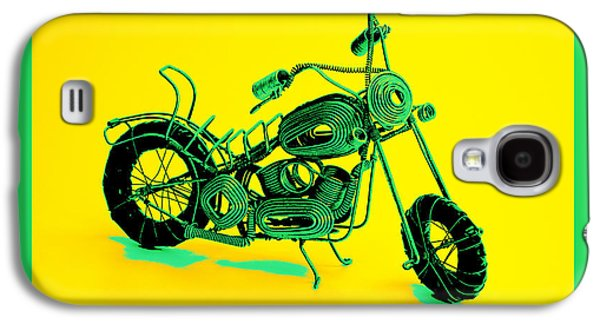 Abstract Digital Pyrography Galaxy S4 Cases - MotorBike 1b Galaxy S4 Case by Mauro Celotti