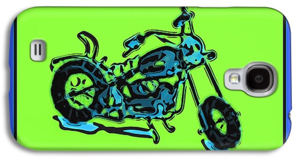 Computer Art Pyrography Galaxy S4 Cases - MotorBike 1c Galaxy S4 Case by Mauro Celotti