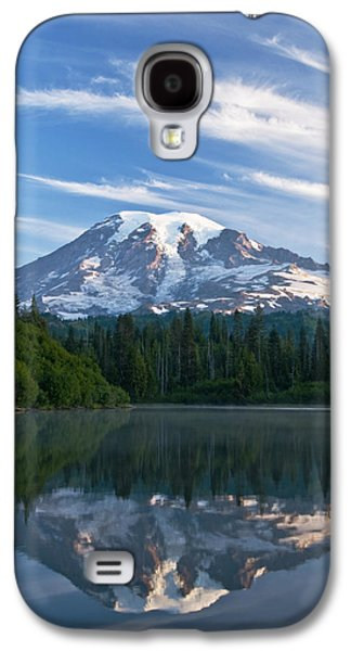 Snow Capped Galaxy S4 Cases - Mount Rainier Reflections Galaxy S4 Case by Greg Vaughn - Printscapes