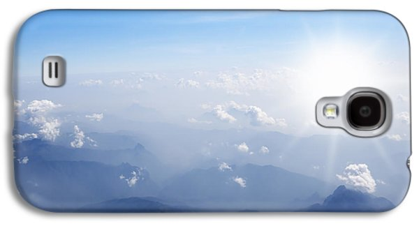 Brightly Galaxy S4 Cases - Mountain With Blue Sky And Clouds Galaxy S4 Case by Setsiri Silapasuwanchai