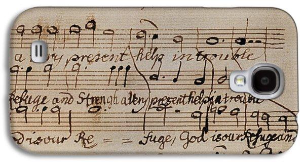 Autographed Galaxy S4 Cases - Mozart: Motet Manuscript Galaxy S4 Case by Granger