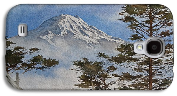 Landscape Greeting Cards Galaxy S4 Cases - Mt. Rainier Landscape Galaxy S4 Case by James Williamson