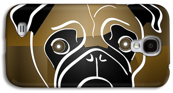 Puppy Digital Art Galaxy S4 Cases - Mug of a Pug Galaxy S4 Case by Stephen Younts