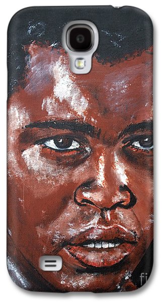 Jail Paintings Galaxy S4 Cases - Muhammad Ali Formerly Cassius Clay Galaxy S4 Case by Jim Fitzpatrick