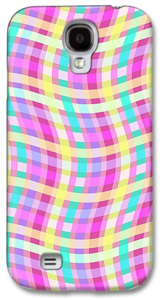 Louisa Galaxy S4 Cases - Multi Check Galaxy S4 Case by Louisa Knight