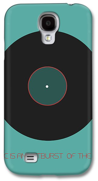 Sound Digital Art Galaxy S4 Cases - Music is an outburst of the soul Poster Galaxy S4 Case by Naxart Studio