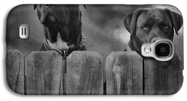 Black Dog Galaxy S4 Cases - Mutt and Jeff 2 Galaxy S4 Case by Larry Marshall