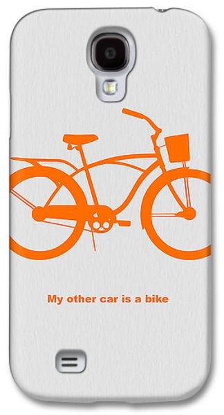 My Other Car Is Bike Galaxy S4 Case by Naxart Studio