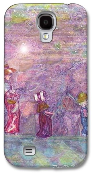Mystical Landscape Mixed Media Galaxy S4 Cases - Mystical Stroll Galaxy S4 Case by Ray Tapajna