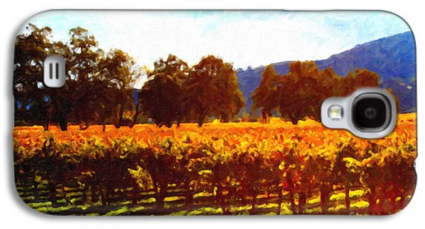 Pastoral Vineyards Galaxy S4 Cases - Napa Valley Vineyard in Autumn Colors 2 Galaxy S4 Case by Wingsdomain Art and Photography