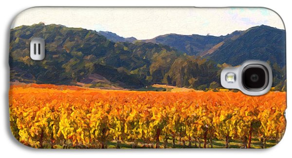 Pastoral Vineyards Galaxy S4 Cases - Napa Valley Vineyard in Autumn Colors Galaxy S4 Case by Wingsdomain Art and Photography