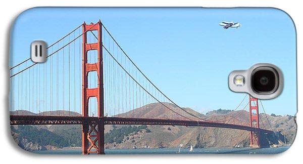 Enterprise Galaxy S4 Cases - NASA Space Shuttles Final Hurrah Over The San Francisco Golden Gate Bridge Galaxy S4 Case by Wingsdomain Art and Photography