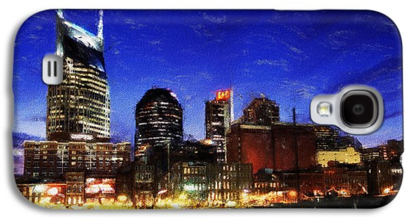 Nashville Tennessee Paintings Galaxy S4 Cases - Nashville At Twilight Galaxy S4 Case by Dean Wittle