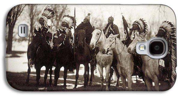 Horseback Galaxy S4 Cases - Native American Chiefs Galaxy S4 Case by Granger