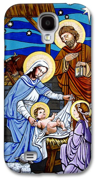 Jesus Tapestries - Textiles Galaxy S4 Cases - Nativity at Valley Ranch Galaxy S4 Case by Joan Garcia