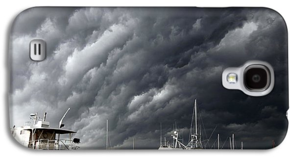 Grey Clouds Photographs Galaxy S4 Cases - Natures Fury Galaxy S4 Case by Karen Wiles