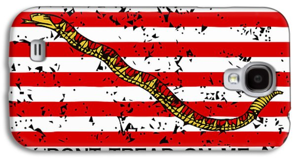 States Mixed Media Galaxy S4 Cases - Navy Jack Flag Galaxy S4 Case by War Is Hell Store