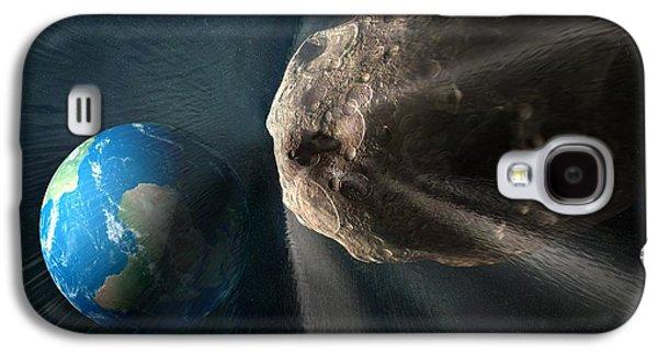 Planetoid Galaxy S4 Cases - Near-earth Asteroid, Artwork Galaxy S4 Case by Henning Dalhoff