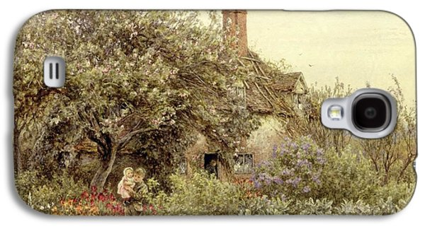 Country Paintings Galaxy S4 Cases - Near Hambledon Galaxy S4 Case by Helen Allingham