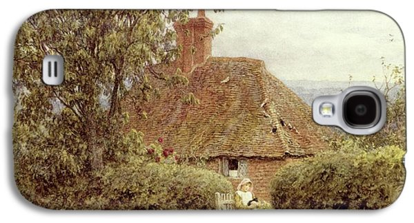 Country Paintings Galaxy S4 Cases - Near Haslemere Galaxy S4 Case by Helen Allingham
