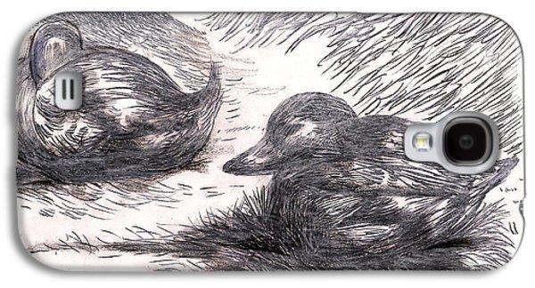 Nesting Mallards Galaxy S4 Case by Al Goldfarb