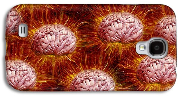 Component Photographs Galaxy S4 Cases - Networking Brains, Conceptual Artwork Galaxy S4 Case by Victor De Schwanberg