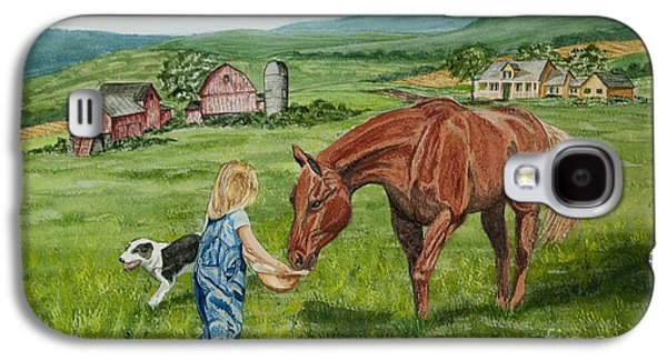Farm Fields Paintings Galaxy S4 Cases - New Friends Galaxy S4 Case by Charlotte Blanchard