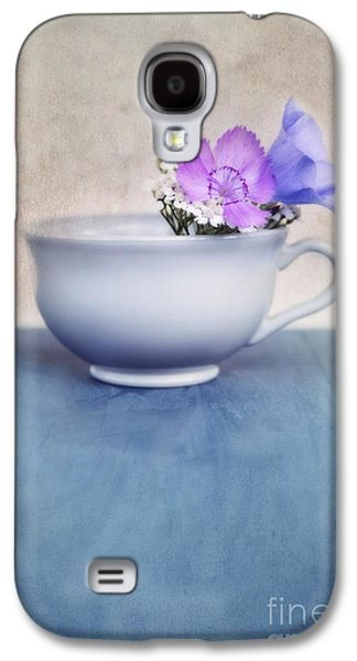 Floral Still Life Galaxy S4 Cases - New Life For An Old Coffee Cup Galaxy S4 Case by Priska Wettstein
