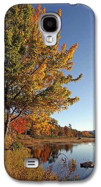 Maine Meadow Galaxy S4 Cases - New Mills Meadow Pond Galaxy S4 Case by Juergen Roth