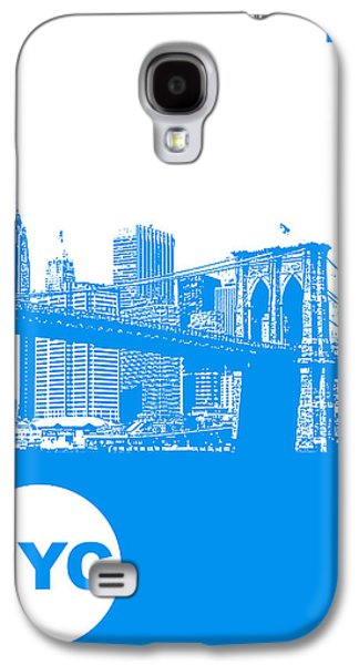 New York Digital Galaxy S4 Cases - New York Poster Galaxy S4 Case by Naxart Studio