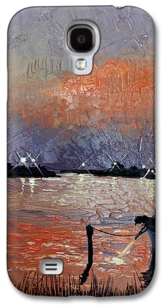 Landscape Acrylic Prints Galaxy S4 Cases - Night Light Galaxy S4 Case by Anthony Falbo