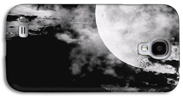 Moon Galaxy S4 Cases - Night Galaxy S4 Case by Lourry Legarde