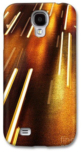 Asphalt Galaxy S4 Cases - Night Traffic Galaxy S4 Case by Carlos Caetano