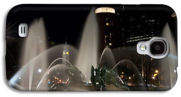 Downtown Franklin Galaxy S4 Cases - Night View of Swann Fountain Galaxy S4 Case by Bill Cannon