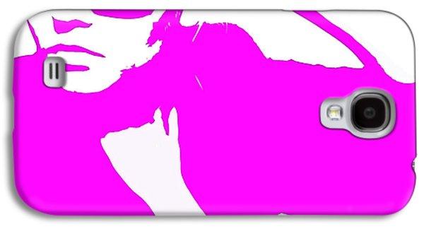 Grey Digital Art Galaxy S4 Cases - Niki Pink Galaxy S4 Case by Naxart Studio