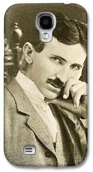 Personalities Photographs Galaxy S4 Cases - Nikola Tesla, Serbian-american Inventor Galaxy S4 Case by Photo Researchers