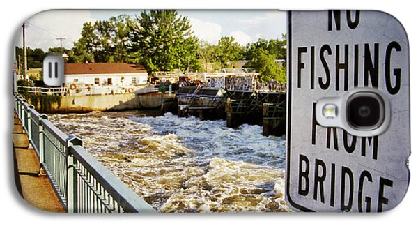 Appleton Photographs Galaxy S4 Cases - No Fishing From Bridge Galaxy S4 Case by Shutter Happens Photography
