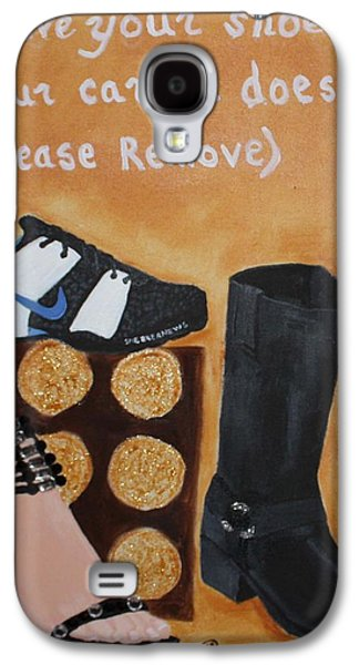 Nike Paintings Galaxy S4 Cases - No Shoes Galaxy S4 Case by Kimber  Butler