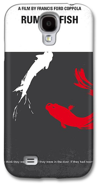 Fight Digital Art Galaxy S4 Cases - No073 My Rumble fish minimal movie poster Galaxy S4 Case by Chungkong Art